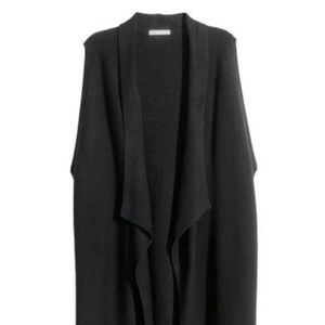 H&M long knit vest